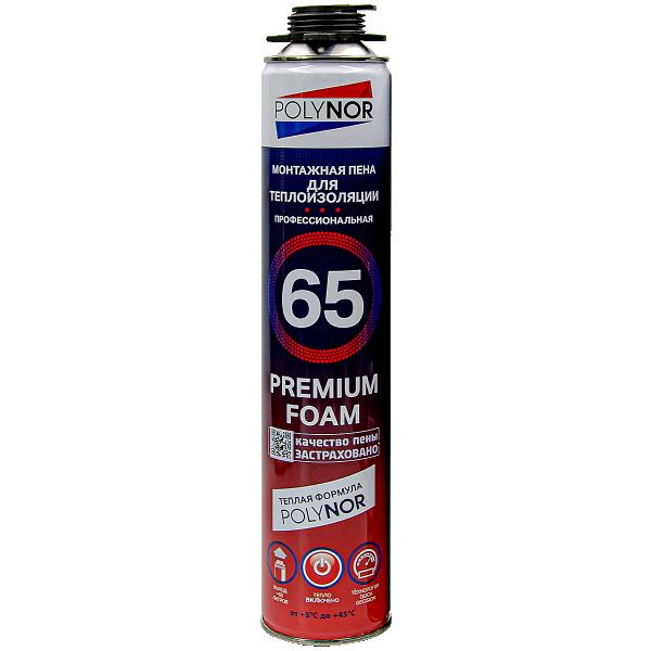 Монтажная пена Polynor 65 Premium