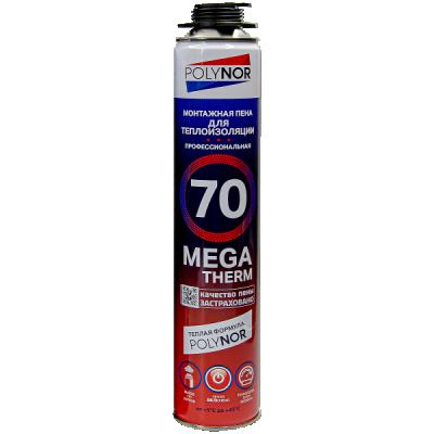 Монтажная пена Polynor 70 Mega Therm